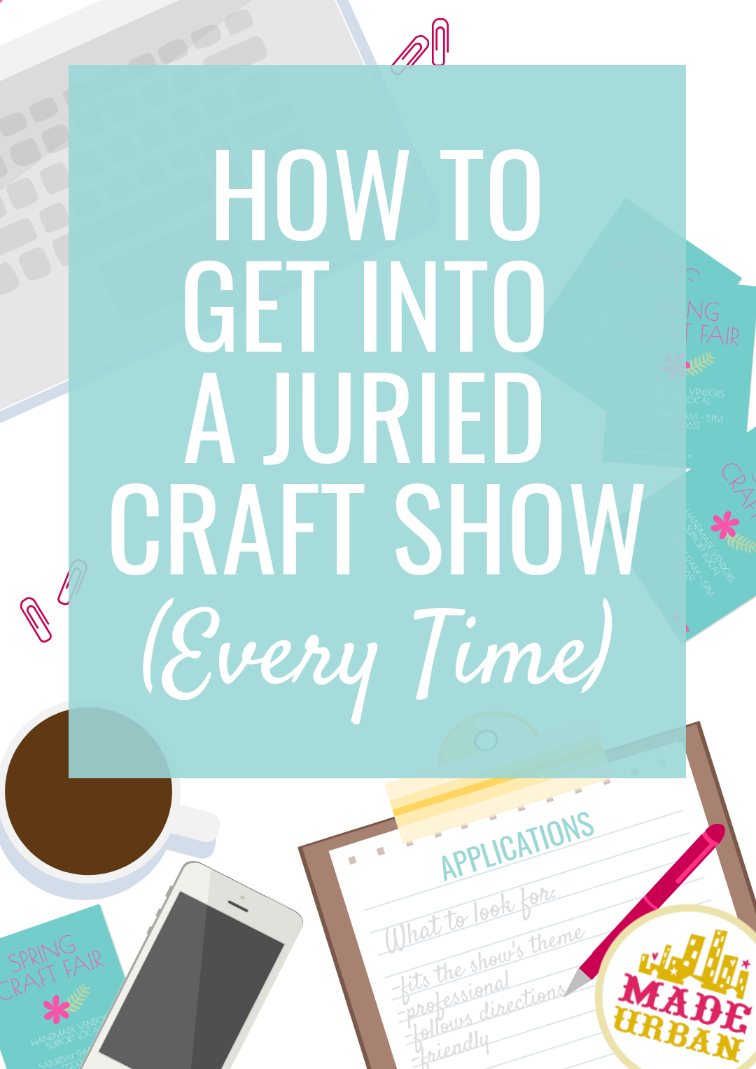 If a juried craft show is competitive, it requires more than simply filling out an application and submitting it. You've got to take things to the next level if you want to stand out from the other applications and get accepted.