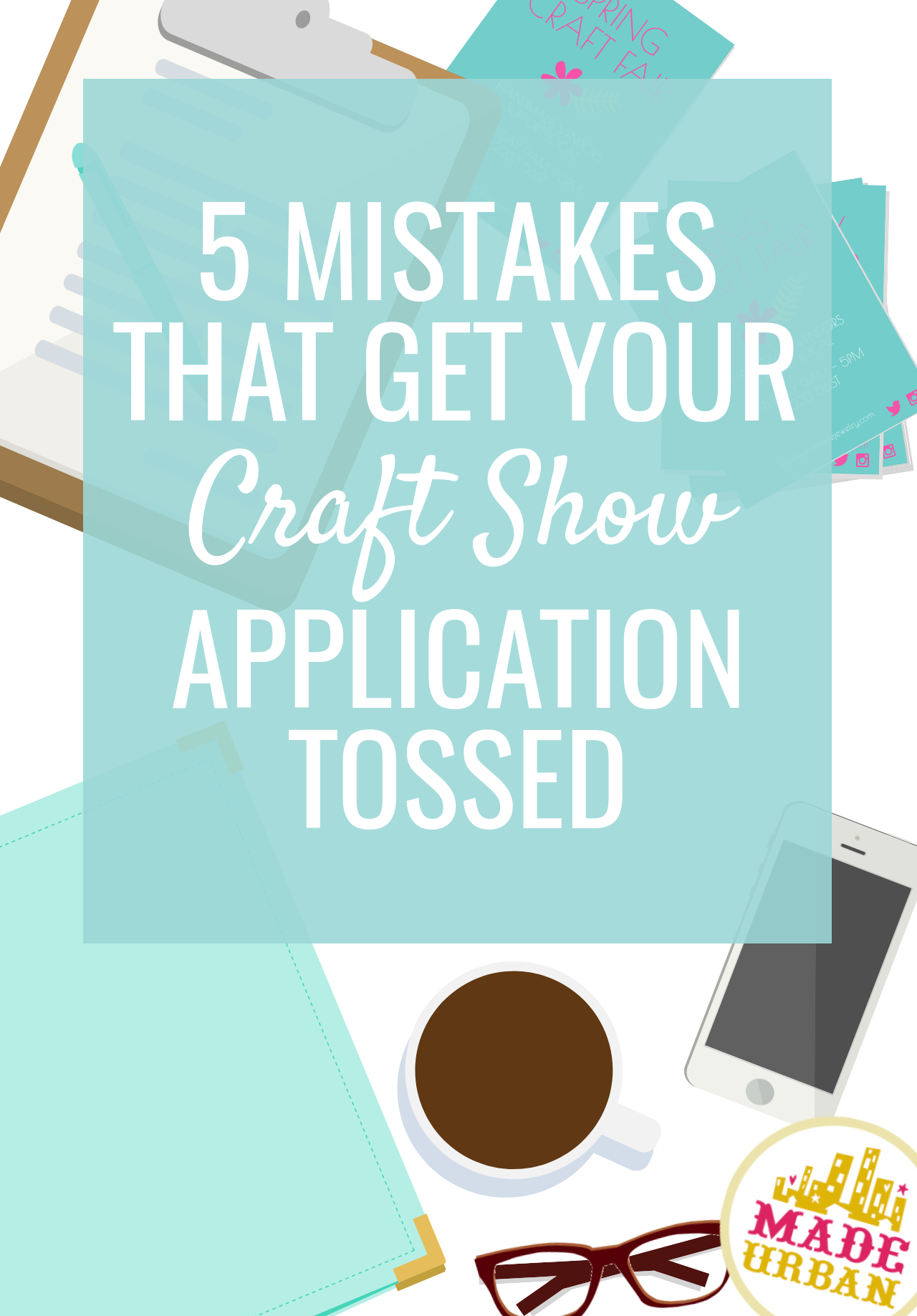 When submitting a craft show application, there are a few mistakes event organizers see often but aren't that obvious to crafters. Find out what they are.