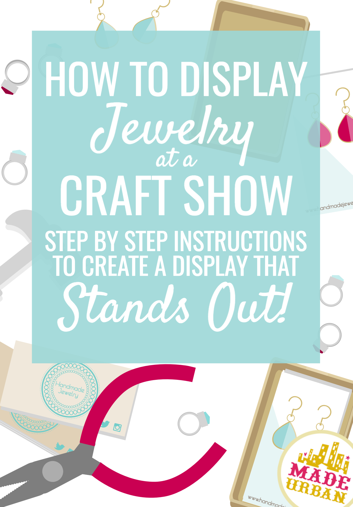 How to display jewelry at a craft show made urban for How to make a ring display for craft shows