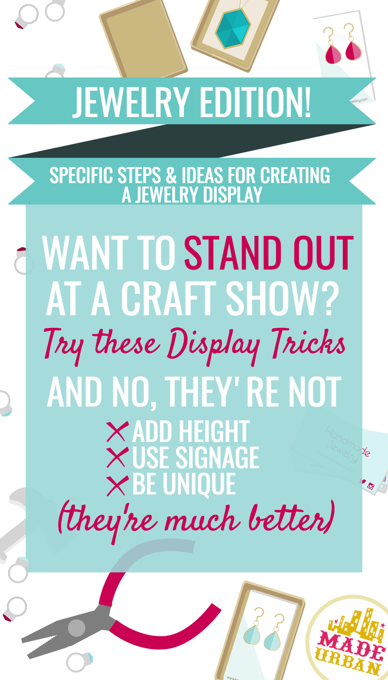 Blog how to display jewelry at a craft show made urban for How to make a ring display for craft shows