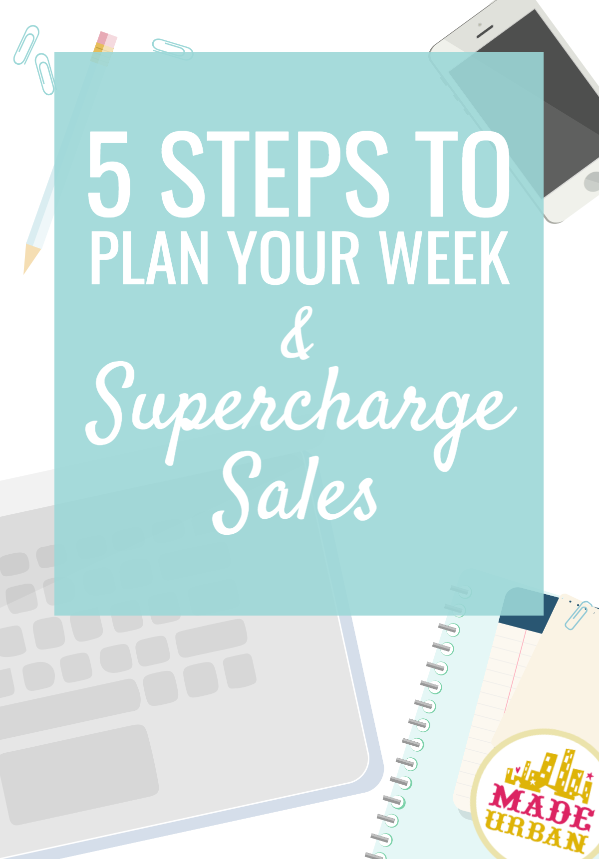 Plan your schedule to drive sales and stop having unproductive days reacting to your handmade business. Follow these 5 steps to finally get organized.