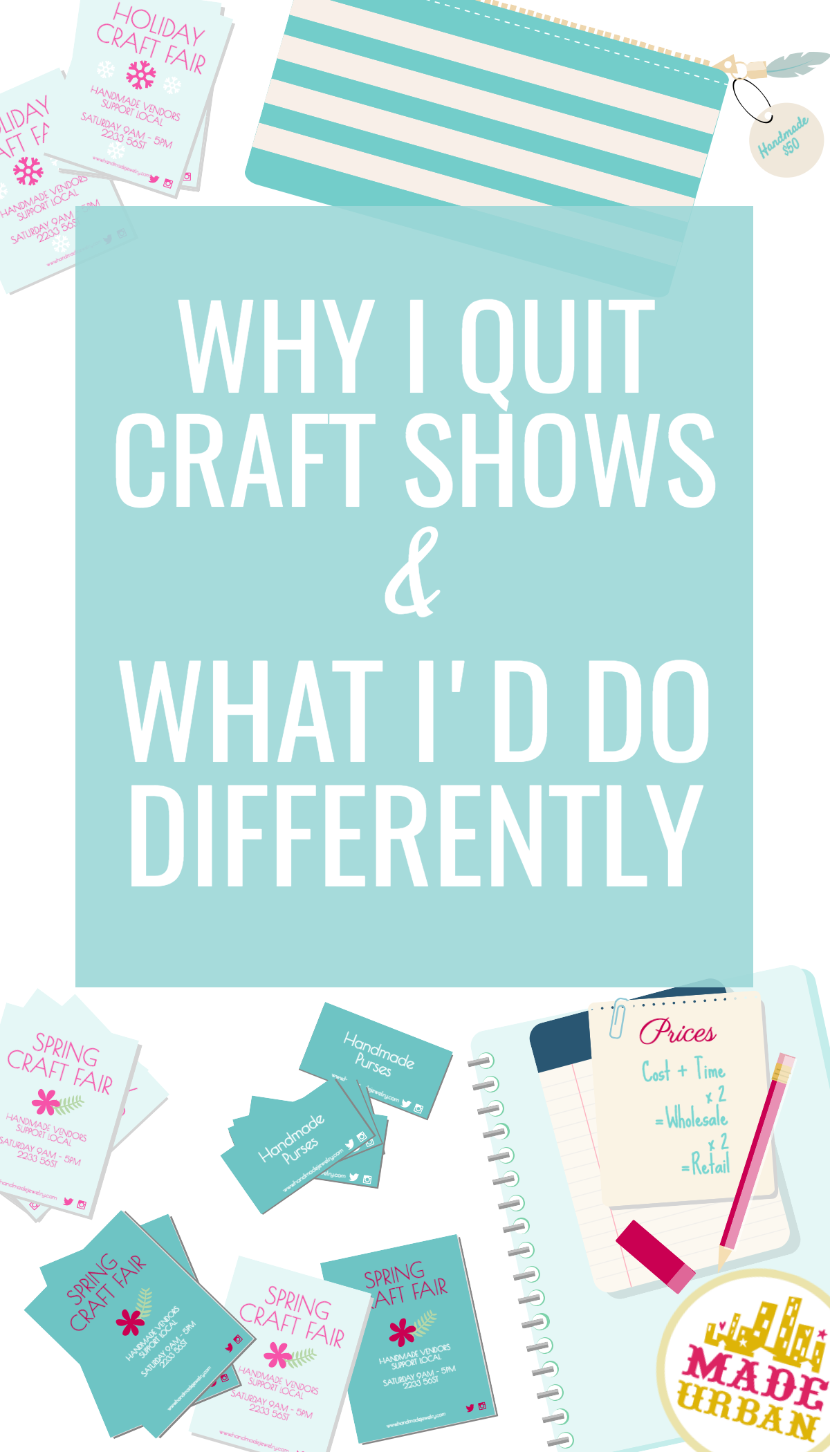 Craft shows can wear a small handmade business owner out if not planned properly. These are the lessons I wish I knew when I started selling at craft shows.