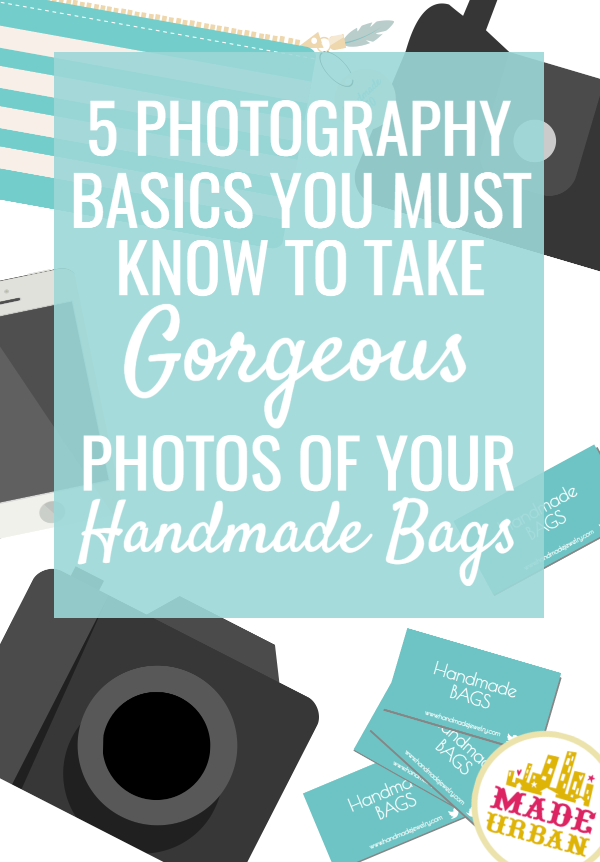 If you want that bag you just made to stand out and sell online, your photos must catch the eye. Here are 5 tips to follow when photographing your product.