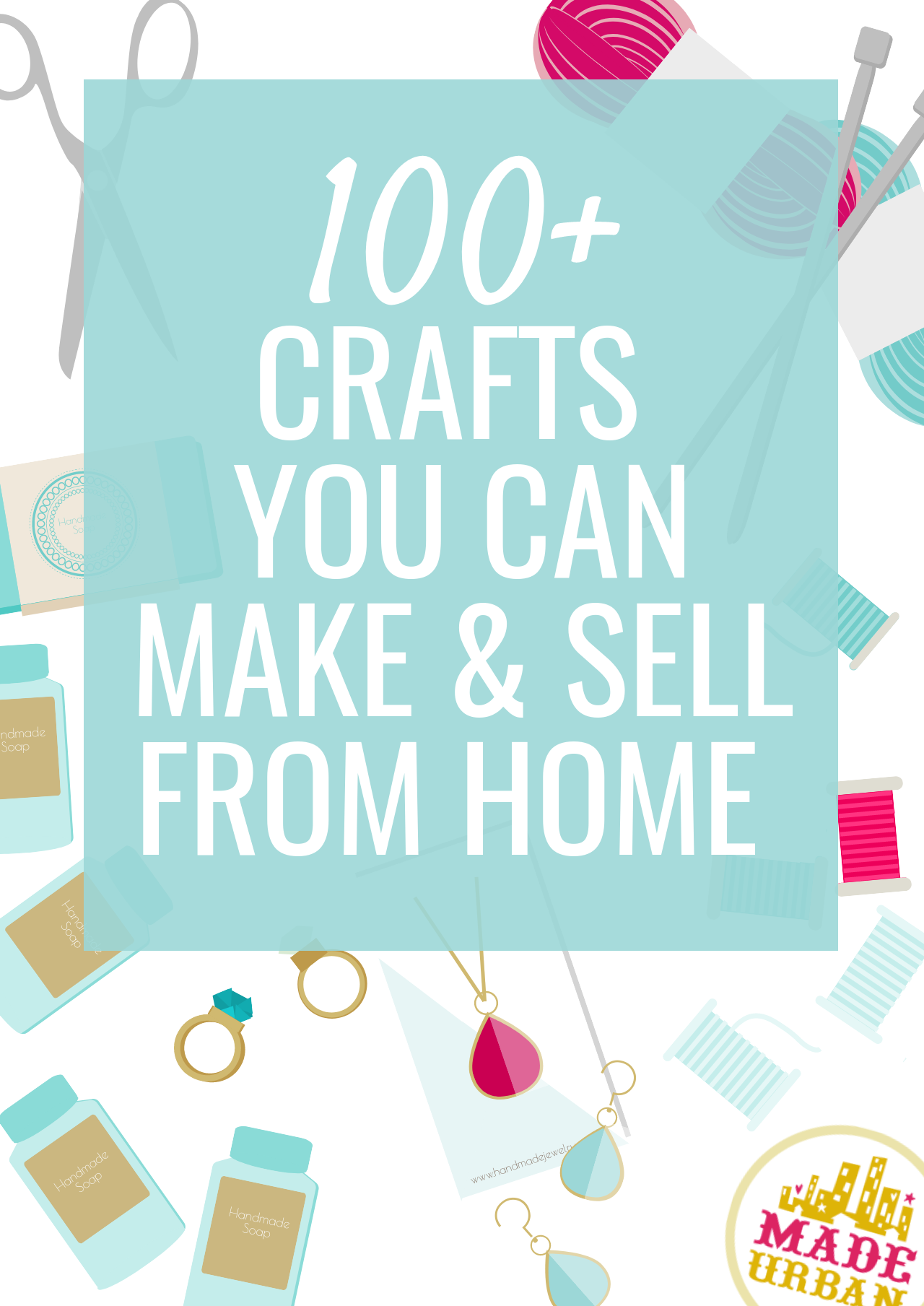100 crafts to make sell from home made urban