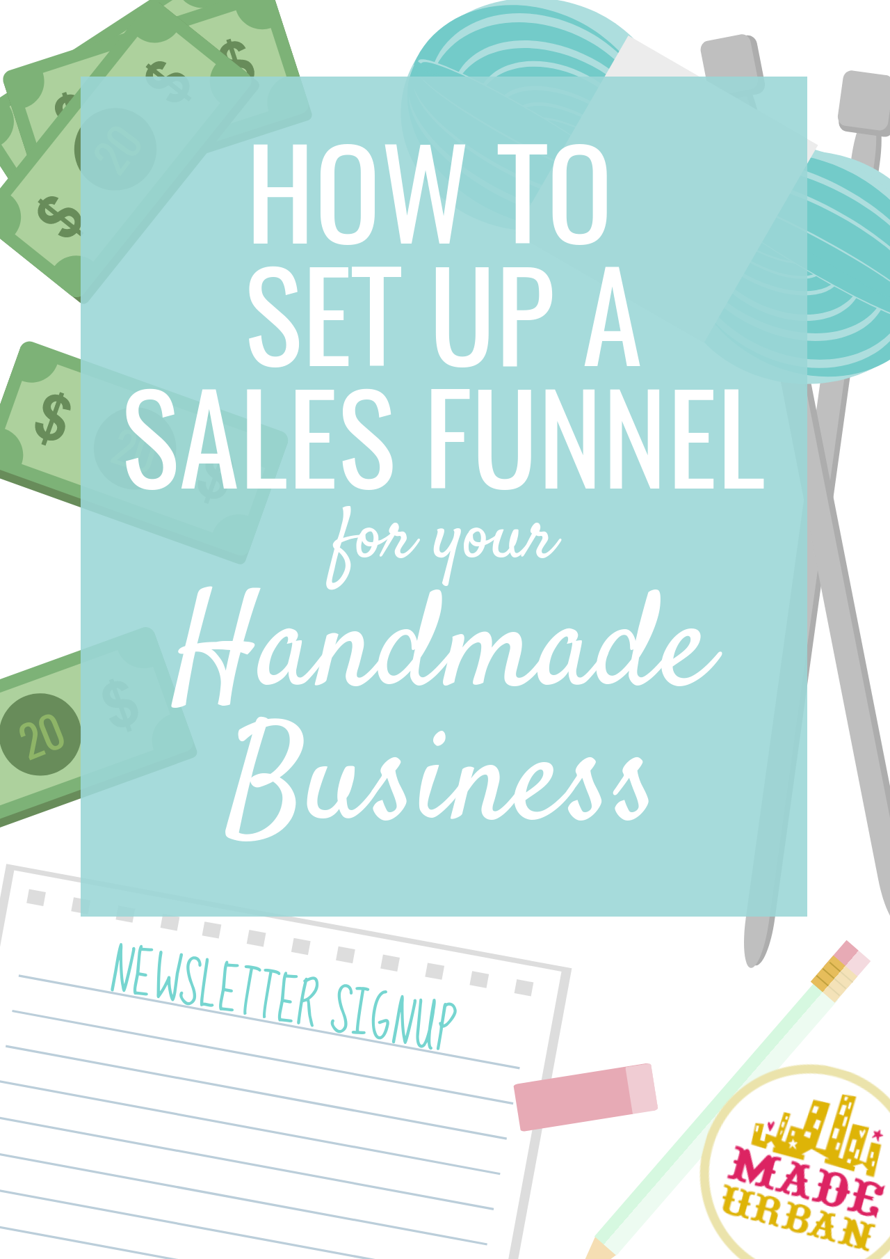 If your handmade business doesn't have a sales funnel, you're missing out on a lot of sales. On average 98% of shoppers will not buy, so you must give options aside from buy or don't buy if you want to boost sales. Here's how to do it...