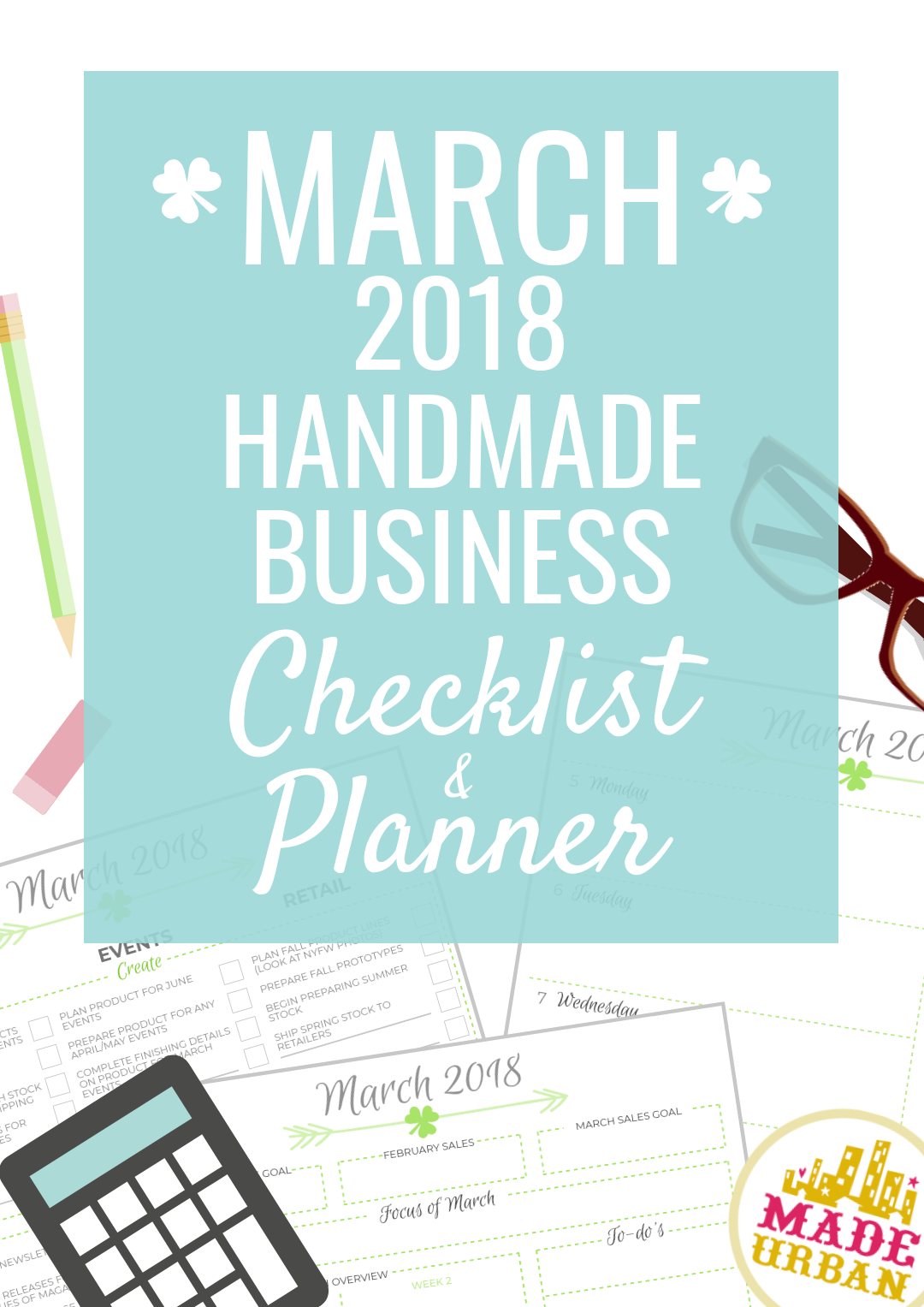 Wondering what to work on for your small handmade business to be successful in March? This article has a detailed list plus a printable checklist & planner.