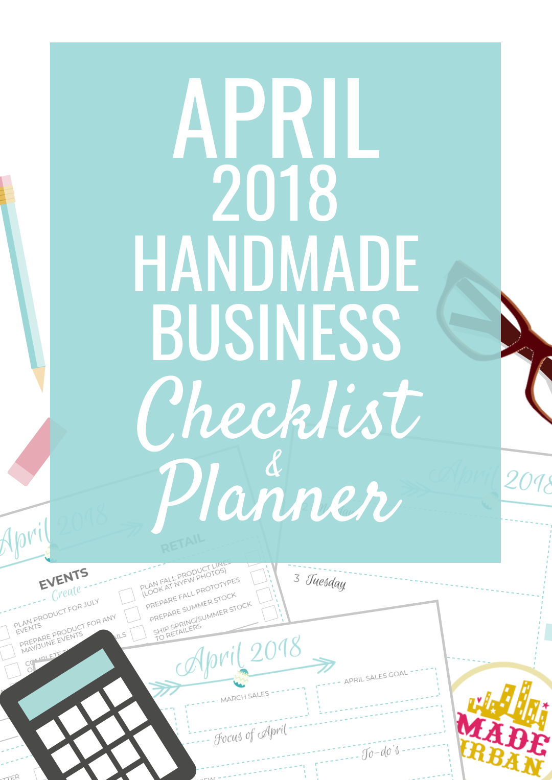 Spring has arrived & it's time for a productive April, to prepare for May & plan what June will look like. Here's how plus a checklist & planner.