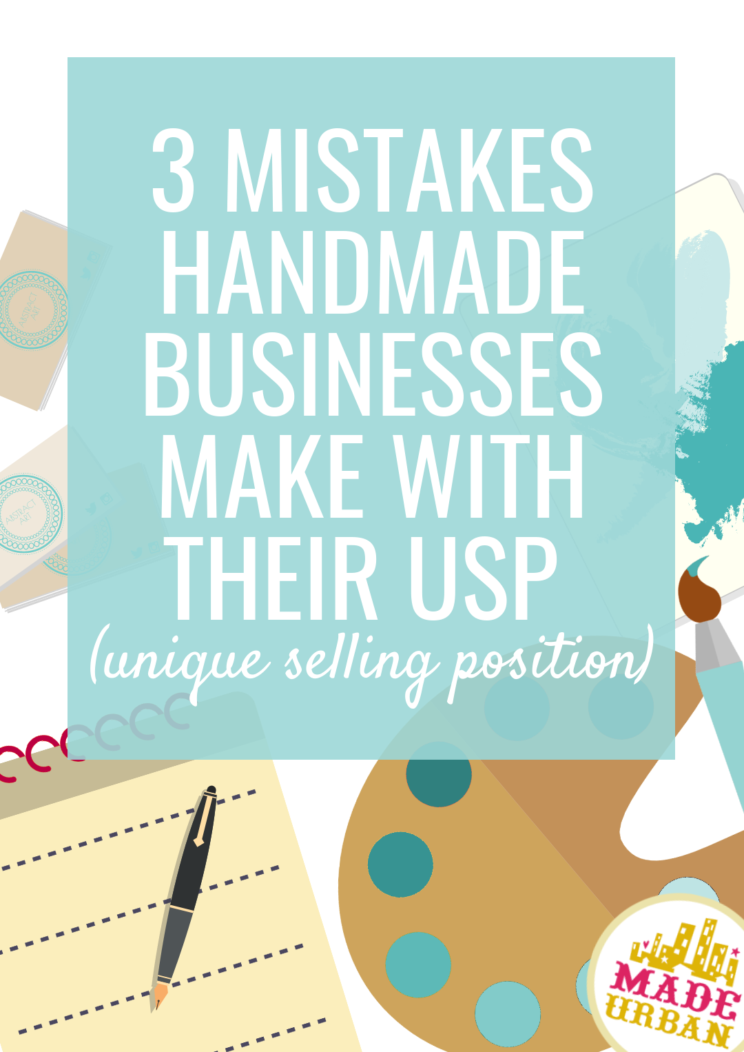 A USP can be the difference between driving sales & waiting for a few sales to trickle in. So it's important for a handmade business to have a good USP & avoid these mistakes. Whether you sell one of a kind art, jewelry or knit scarves, you need a powerful unique selling position.
