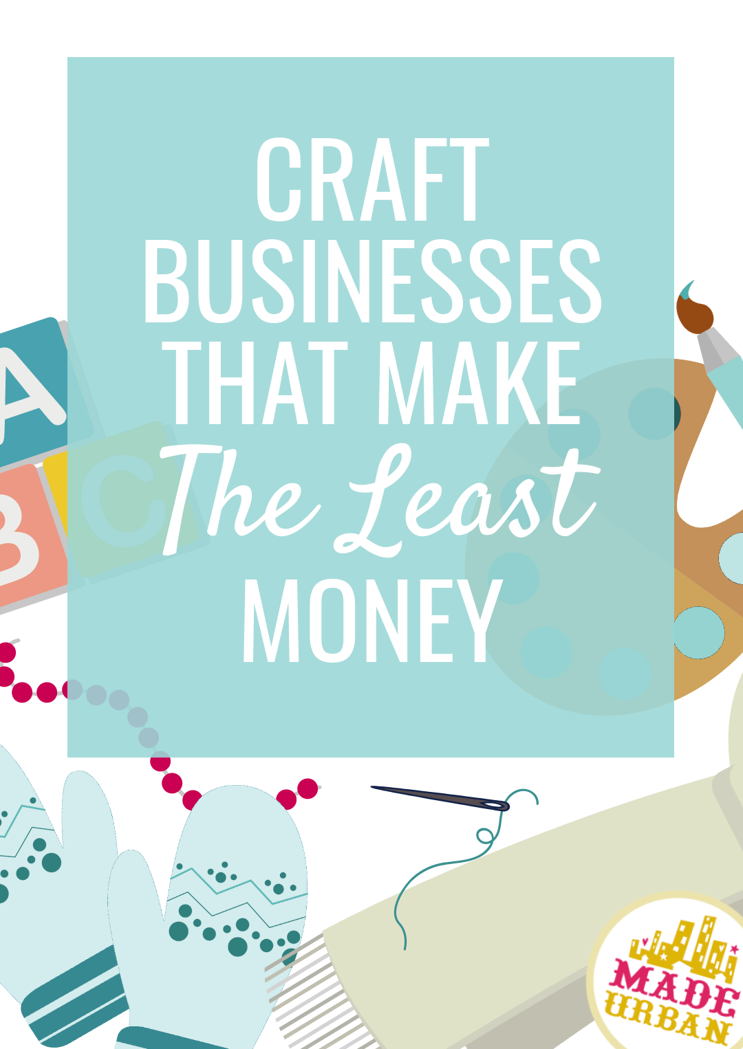 You can find a way to make money selling almost anything but there are some craft businesses that have lower profit margins than others. Expensive supplies or high labor costs can drive prices of handmade goods beyond what consumers are willing to pay. Here are the crafts that are a little more difficult to earn money making and selling.
