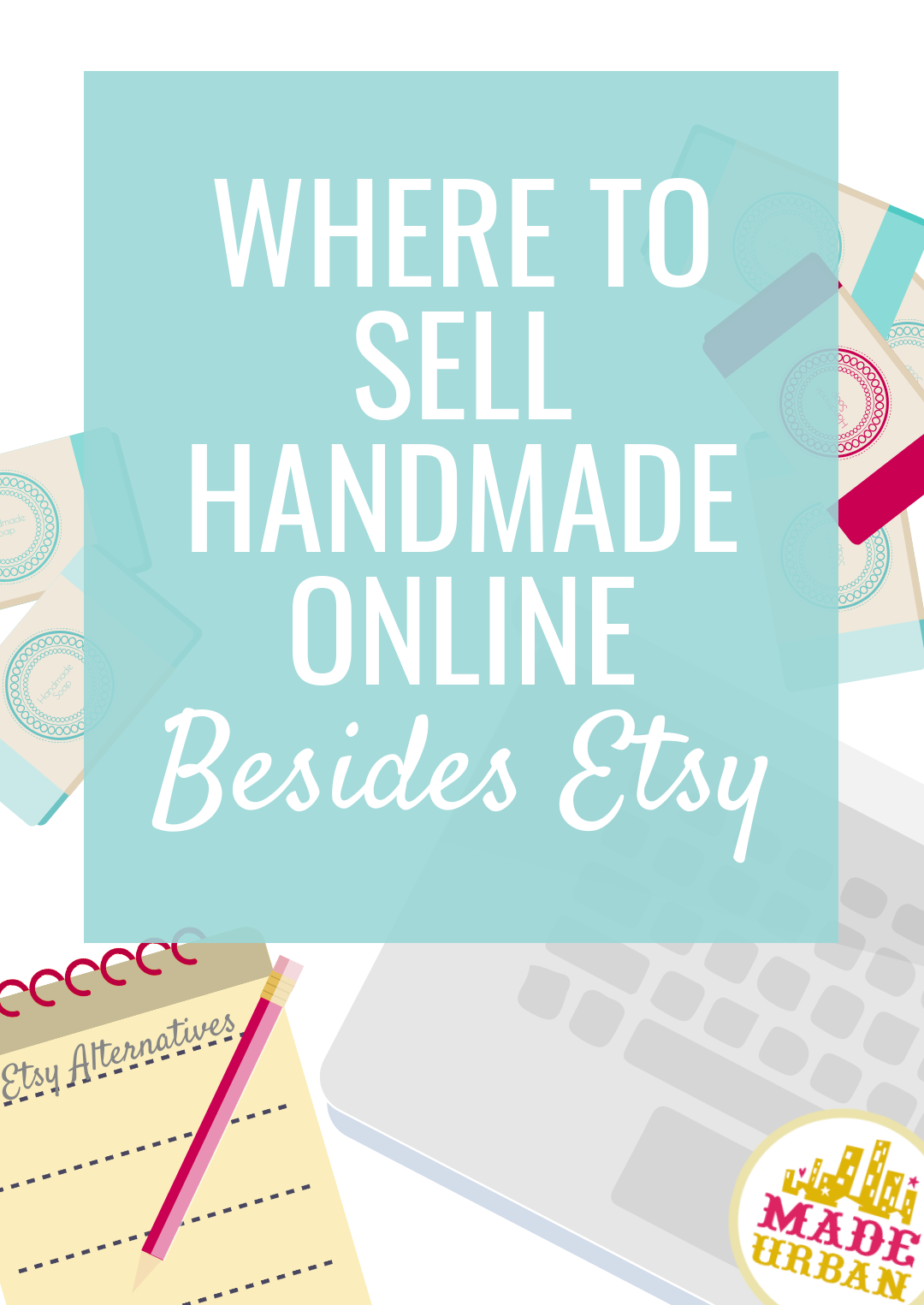 If you're looking for an alternative to Etsy, this article lists 30 places for crafters and craft businesses to sell their handmade items online. You can choose some to use in addition to Etsy or to replace your Etsy shop.