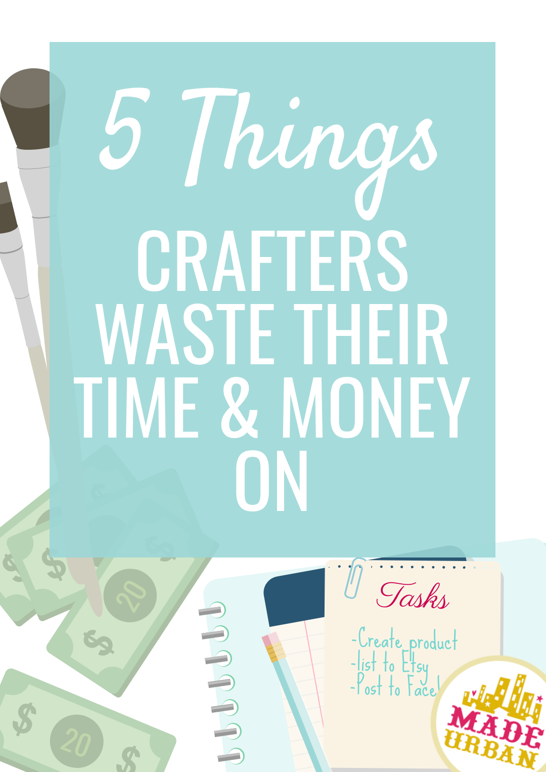 Handmade businesses are often a side project, so owners must be sure they're spending their time wisely and not wasting it on low-value tasks. Find out which tasks I wasted time and money on in my handmade business and ones you should give less time to or avoid altogether.