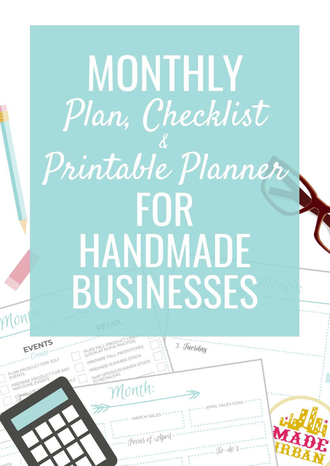 A lot of handmade business owners spend too much time creating and not enough time marketing and selling. Creating, marketing and selling are all required to run a handmade business but it can be overwhelming trying to figure out what to work on and when. This article shares what you should be working on now to make sales this month, next month and beyond. Plus there's a free checklist to follow each month and printable planner to keep track of tasks.