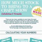 How Much Stock to Bring to a Craft Show  – Calculations & Formulas