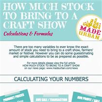 How Much Stock to Bring to a Craft Show  - Calculations & Formulas
