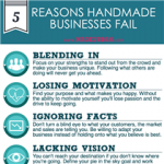 5 Reasons Handmade Businesses Fail