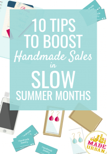 how to boost handmade sales in slow months