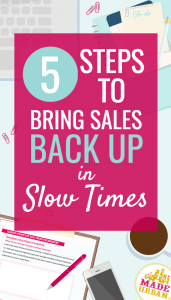 INCREASING SALES IN A SLOW ECONOMY