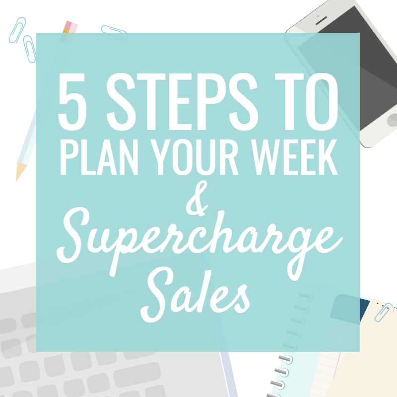 5 Steps to Plan your Week and Organize your Handmade Business
