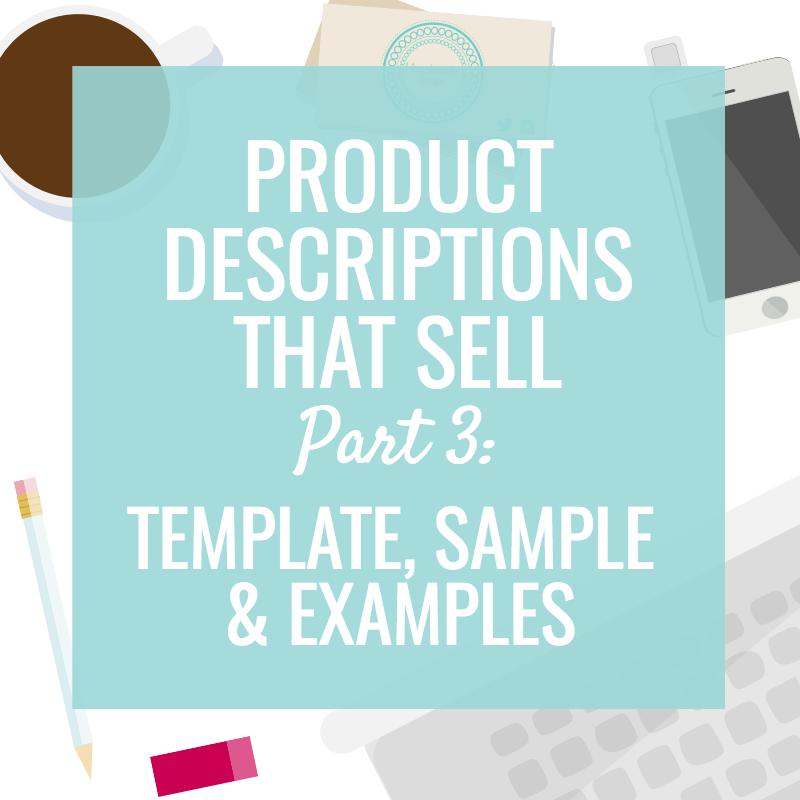 Free Product Description Template & Sample