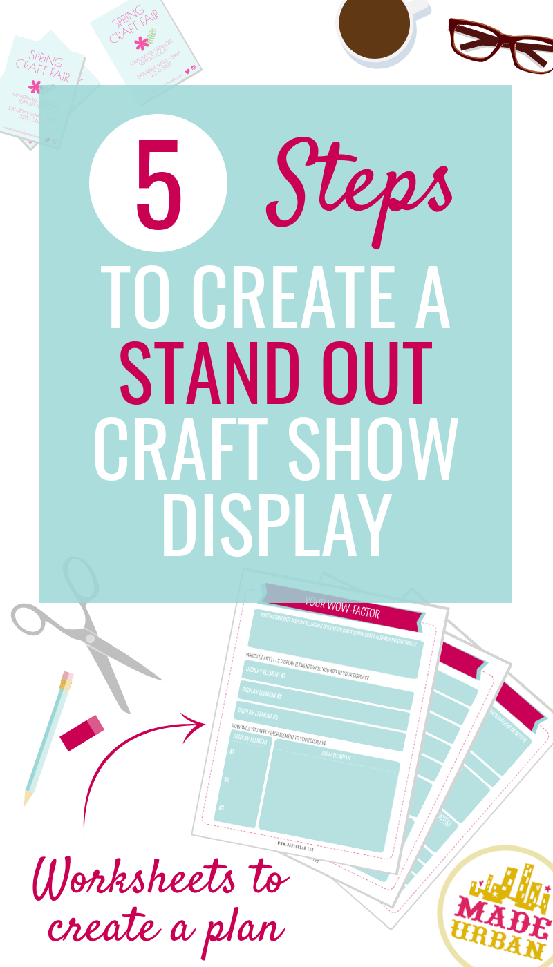 5 Days to a Standout Craft Show Display - free email course to improve your craft show display and increase sales