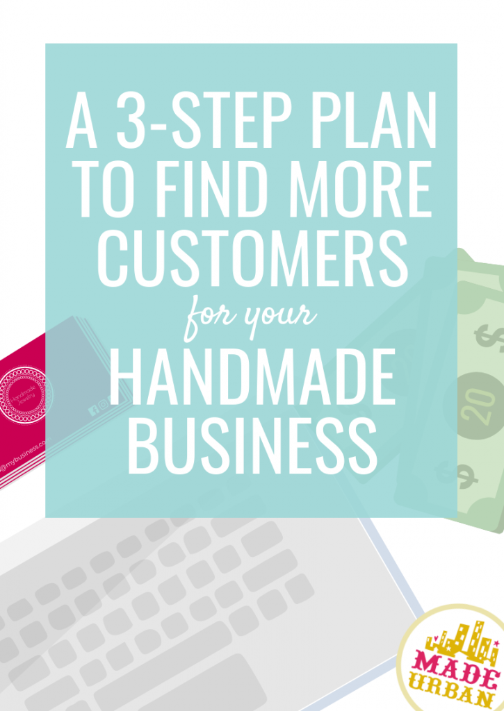 A 3-step plan to find more customers for your handmade business